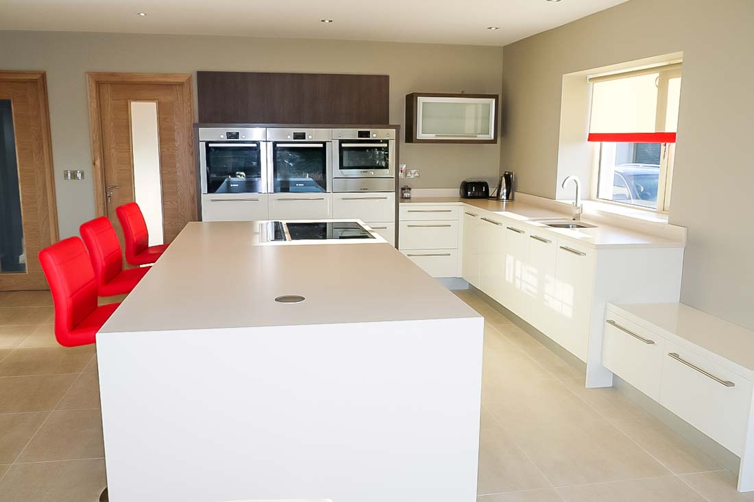 Ivory High Gloss and Rigeletto Kitchen - Stylecraft Kitchens and ...